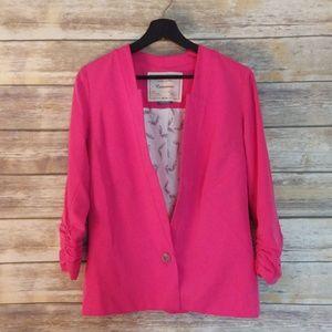 Anthropologie Cartonnier Hot Pink Jacket